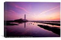 Pink St Mary's, Canvas Print