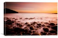 Cullernose Point - Northumberland, sunrise., Canvas Print
