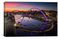 High View Twilight Tyne, Canvas Print