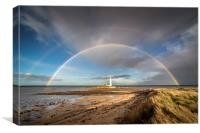 St Marys Double Rainbow, Canvas Print