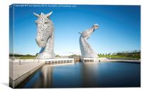 The Kelpies at the Helix, Falkirk, Canvas Print