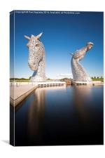 The Kelpies at the Helix, Falkirk 4, Canvas Print