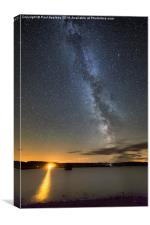 Milky Way over Kielder Water, Canvas Print