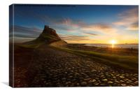 In the Warm morning light - Lindisfarne Castle, N, Canvas Print
