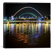 Newcastle upon Tyne Quayside Reflections, Canvas Print