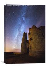 Dunstanburgh Milky Way, Canvas Print
