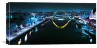 The Millennium Bridge and Quayside - Newcastle, Canvas Print