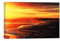 Seaton Sluice Sunset, Canvas Print