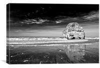 Marsden Rock Reflection, Canvas Print