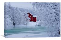 Norway In Winter, Canvas Print