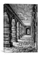 Cobbled Corridor, Canvas Print