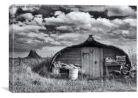BOATSHED, Canvas Print