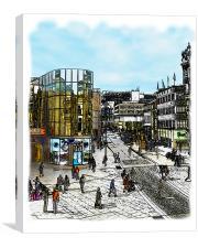 Street Scene, Canvas Print