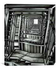 Baltic Stairs., Canvas Print