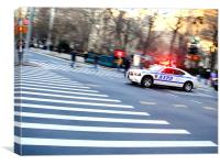 NYPD Dodge Charger, Canvas Print