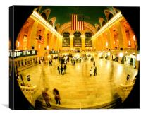 Grand Central Station Timelapse, Canvas Print