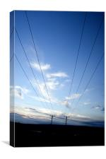 Blue Sky Pylons, Canvas Print