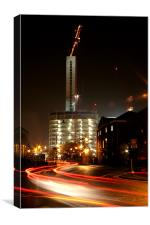 BWP Crane Traffic, Canvas Print