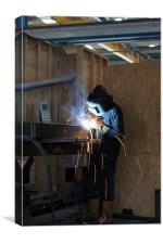 Welder, Canvas Print