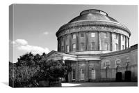 Ickworth House - The rotunda in Black & White, Canvas Print