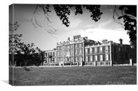 Wimpole Hall in black & white, Canvas Print