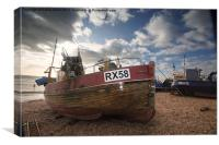 Hastings boat, Canvas Print