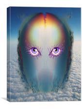 Purple Eye, Canvas Print