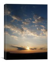 tranquil sunset, Canvas Print