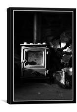 country fireplace, Canvas Print