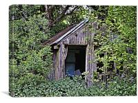Woodcutters shed., Canvas Print