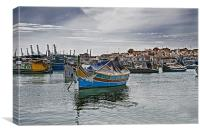 Fishing Village,Marsaxlokk Malta, Canvas Print