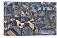 Wirksworth Rooftops, Canvas Print