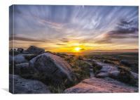 The Derbyshire Peaks, Canvas Print