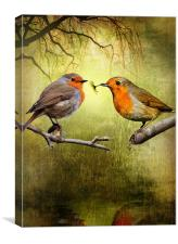 Robin Presents, Canvas Print