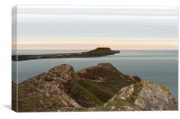 Worms Head and Causeway, Canvas Print