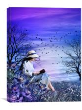 The Blue Novel, Canvas Print