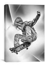 Skateboard Jump, Canvas Print