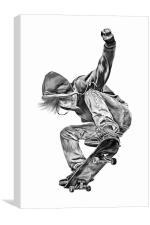 Skateboarding Jump, Canvas Print