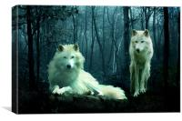 Arctic Wolves, Canvas Print