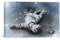 Fiona Floyd and the Freeze-Tiger canvas print, Canvas Print