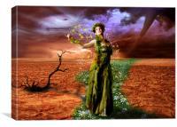 Lady Gaia, Canvas Print