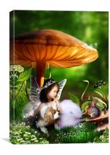 Toadstool Fairytale - Canvas Art Print, Canvas Print