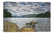 Keswick Rocks, Canvas Print
