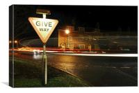 Give Way, Canvas Print