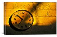 Morning Sun Against The Clock, Canvas Print