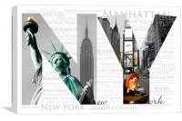 NY - Best of Big Apple, Canvas Print