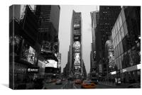 Time Square with NYC Cab, Canvas Print