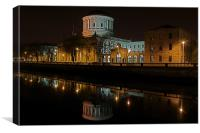 The Four Courts along the River Liffey, Canvas Print