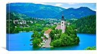 Lake Bled Island, Slovenia, Canvas Print