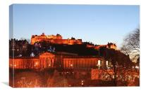 Edinburgh Castle at night, Canvas Print